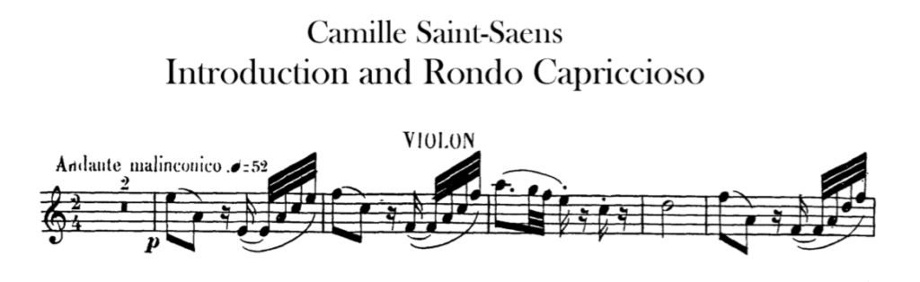 Ein wunderschönes, aber schwieriges Stück für Violine. Hier inspiriert die Vortragsangabe.