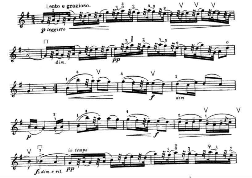Mal laut, mal leise. Um schön Geige zu spielen, sind unterschiedliche Lautstärken sehr wichtig.