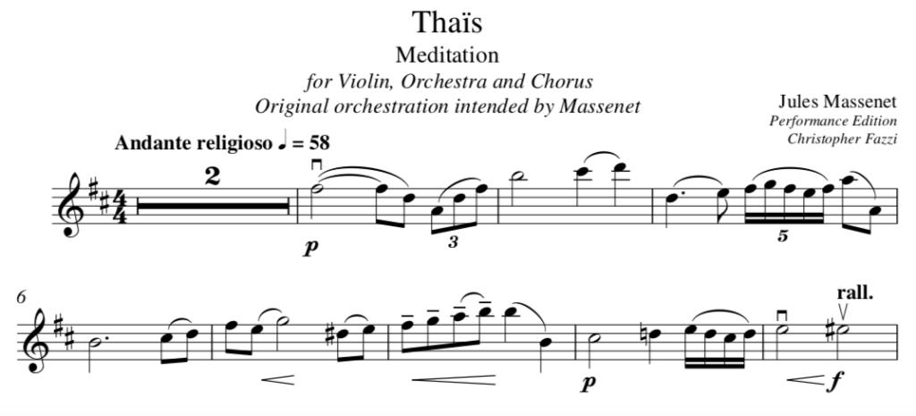 Meditation. Ein gesangliches Stück für Violine, wo viel Ausdruck nötig ist.